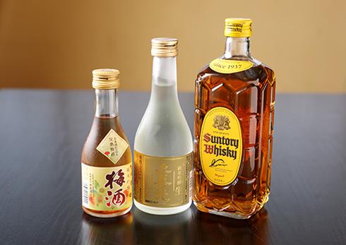 日本酒・梅酒・焼酎・ウイスキーの写真